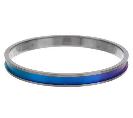 """As Is"" Mirell Titanium Colored Round Bangle Bracelet"