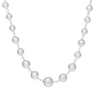"""As Is"" UltraFine Silver 24"" Graduated Bead Necklace 46.00g - J329906"