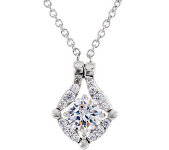 Diamonique Convertible Necklace, Platinum Clad - J330806
