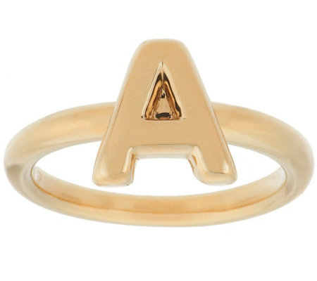 """As Is"" 14K Gold Polished Initial Ring"