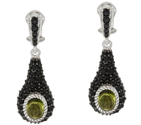 """As Is"" Judith Ripka Sterling & 3.20 ct tw Gemstone Earrings"