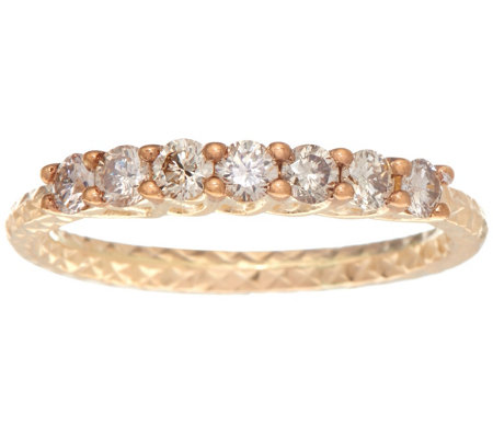7-Stone Diamond Band Ring 14K Gold 1/2 cttw by Affinity