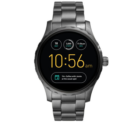Fossil Q Smart Watch Marshal- Gunmetal Bracelet