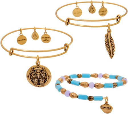 Alex and Ani Godspeed Set of 3 Bangles