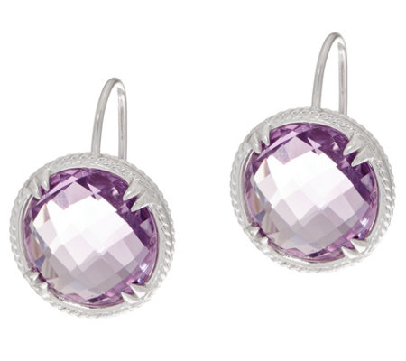 DeLatori Sterling Silver Amethyst or Citrine Drop Earrings