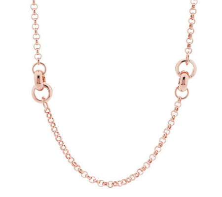 "VicenzaSilver Sterling 36"" Status Link Station Necklace, 38.5g"