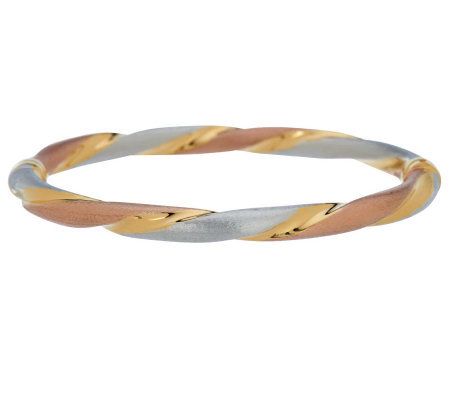 """As Is"" Veronese 18K Clad Average Tri-Color"