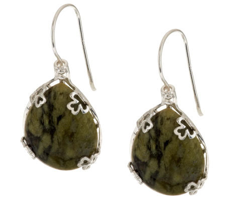 """As Is"" Sterling Silver Connemara Marble Revers ible Earrings"