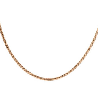 "Bronze 16"" Diamond Cut Snake Chain Necklace by Bronzo Italia - J285507"