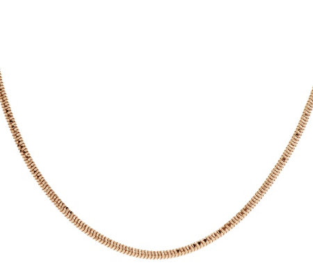 "Bronze 16"" Diamond Cut Snake Chain Necklace by Bronzo Italia"