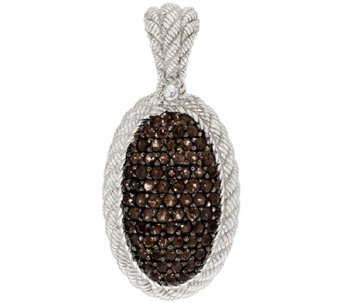 Judith Ripka Sterling Smoky Quartz Pave' Textured Enhancer - J288107