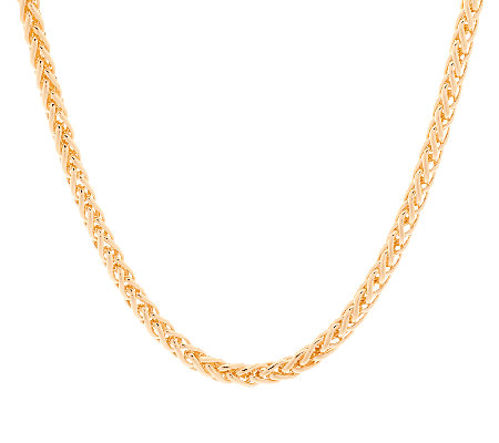 "Bronze 16"" Polished Spiga Chain Necklace by Bronzo Italia"