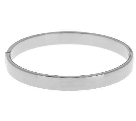 """As Is"" VicenzaSilver Sterling Small Round Hinged Bangle, 12.8g"