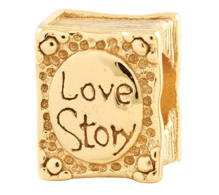 Prerogatives 14K Gold-Plated Sterling Love Story Book Bead