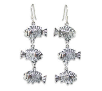 "Novica Artisan-Crafted Sterling ""Thai Fish"" Earrings - J304207"