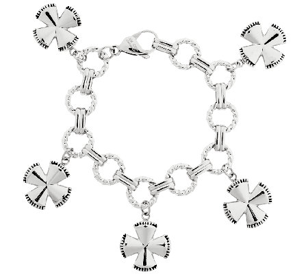 Stainless Steel Maltese Cross Charm Bracelet