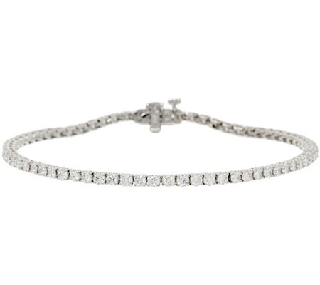 "6-3/4"" Diamond Tennis Bracelet 18K, 2.80 cttw, by Affinity"