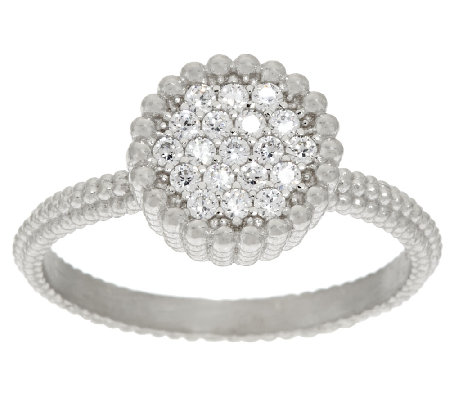 Vicenza Silver Sterling Pave' Diamonique Ring