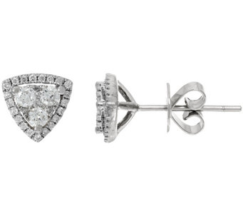 Halo Trillion Cluster Stud Earrings, 14K, 1/2 cttw, Affinity - J324607