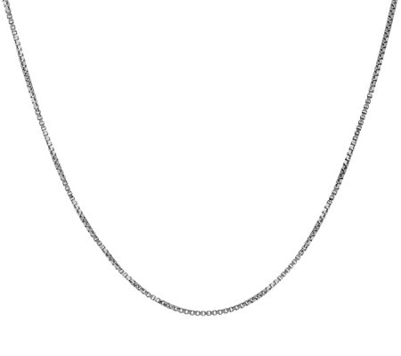 """As Is"" VicenzaGold 22"" Box Chain Necklace 14K"