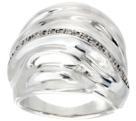 """As Is"" Hagit Sterling Silver Diamond Ring"