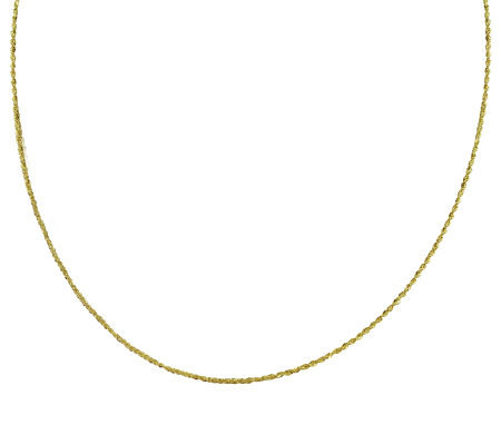 "EternaGold 30"" 019 Singapore Chain Necklace, 14K Gold, 2.1g"