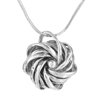 Regina Lane Sterling Twisted Knot Pendant withChain - J336907