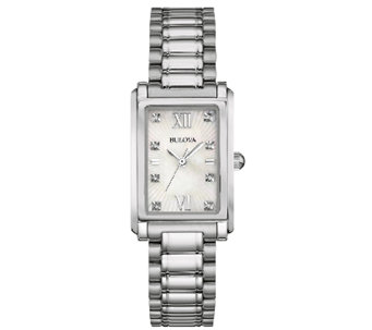 Bulova Women's Stainless Steel Mother-of-PearlBracelet Watch - J339007