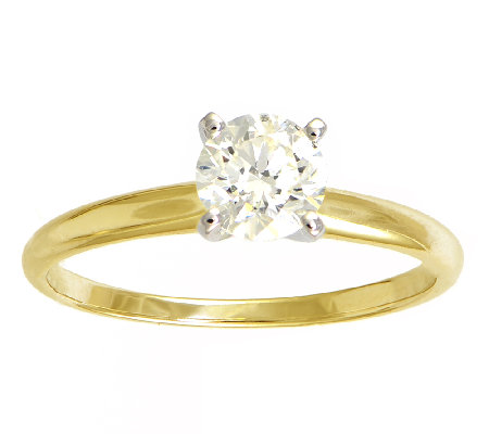 Diamond Solitaire Ring, 3/4cttw, 14K Yellow Gold, by Affinity