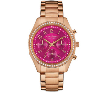 Caravelle New York Women's Watch w/ Berry Chronograph Dial - J344207