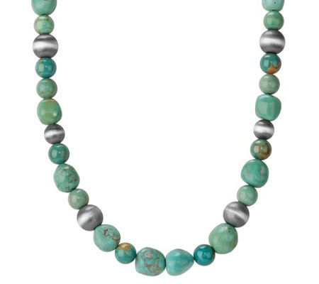 American West Jennifer Nettles Green TurquoiseBeaded Necklace