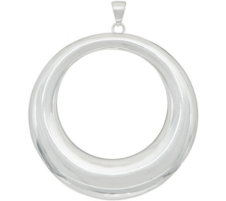 "UltraFine Silver 2-3/4"" Polished Open Circle Pendant 10.0g"