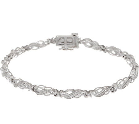 "6-3/4"" Diamond Tennis Bracelet 1/4 cttw, Sterling, by Affinity"