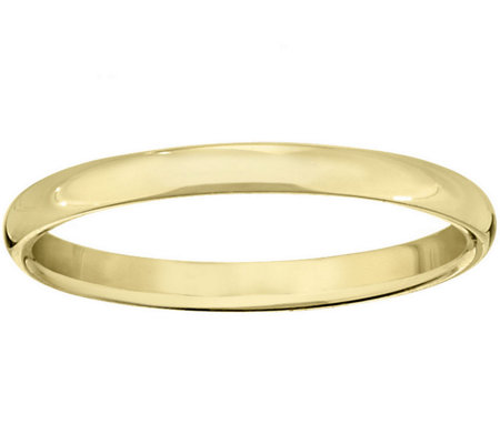Men's 14K Yellow Gold 2mm Half Round Wedding Band
