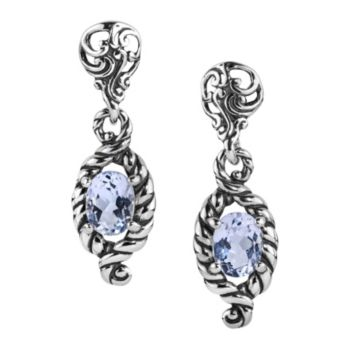 Carolyn Pollack Sterling Silver Brilliant WhiteTopaz Earrings