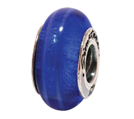 Prerogatives Sterling Deep Blue Glass Bead