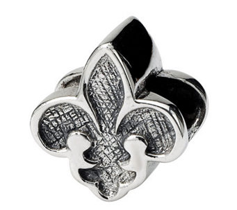 Prerogatives Sterling Silver Fleur-de-Lis Bead - J111508