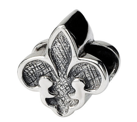 Prerogatives Sterling Silver Fleur-de-Lis Bead