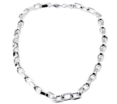 "Sterling 24"" Solid Oval Link Necklace, 70.0 g"