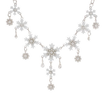"""As Is"" Lunch at the Ritz 2Go Let it Snow 18"" Necklace w/ext. - J138908"