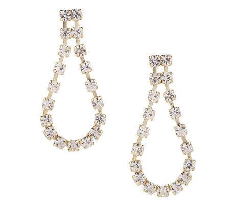 Isaac Mizrahi Live! Perfect Crystal Drop Earrings
