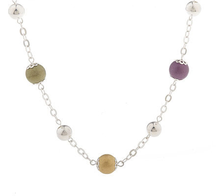 """As Is"" Colors of Sterling 36"" Bead Station Necklace"