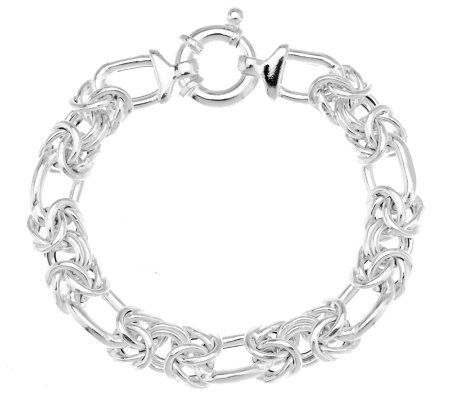 """As Is"" UltraFine Silver 7-1/4"" Woven Byzantine Bracelet, 18.4g"
