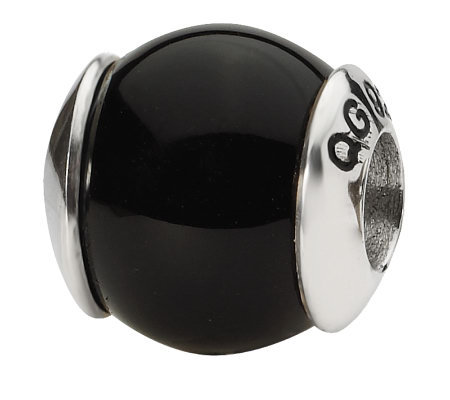 Prerogatives Sterling Black Sardonyx Gemstone Bead