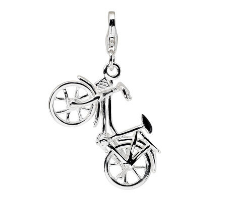Amore La Vita Sterling Dimensional Bicycle Charm