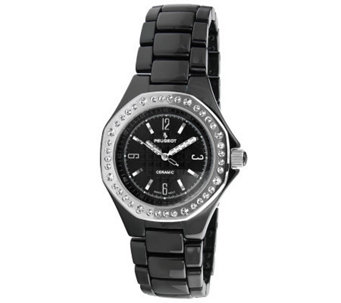 Peugeot Women's Swiss Ceramic Swarovski CrystalAccent Watch - J308608