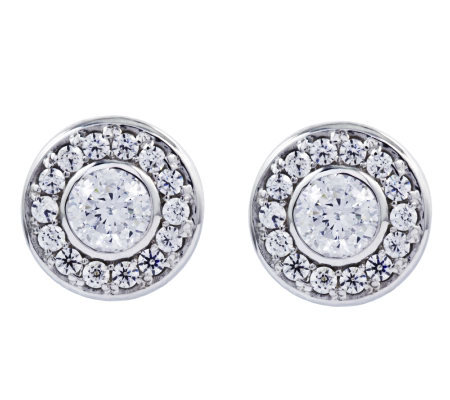 Diamonique 3/4 cttw Earrings, Platinum Clad