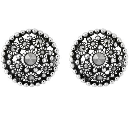 Suspicion Sterling Marcasite Stud Earrings