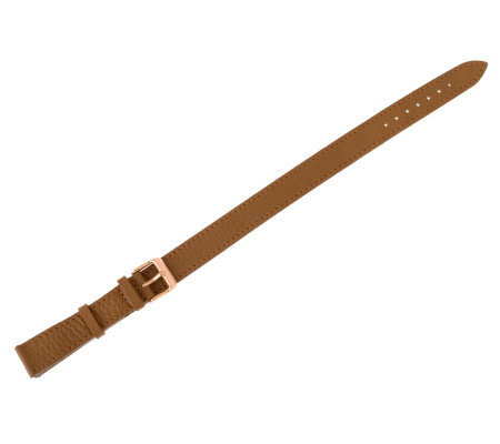 Bronzo Italia 18mm Double Wrap Leather Strap -Camel