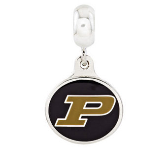 Sterling Silver Purdue University Dangle Bead - J315008